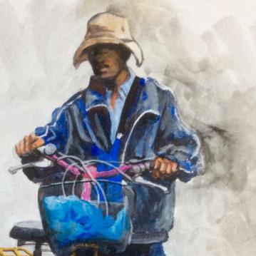 Man in Dalat Vietnam