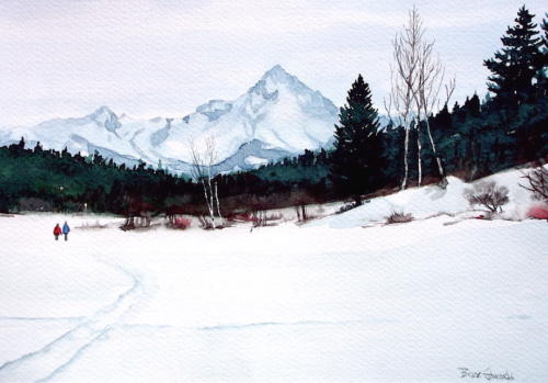 Frozen Lake Stroll